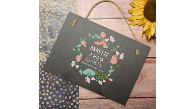 Beautiful And Unique Rectangular Personalised Slate Sign