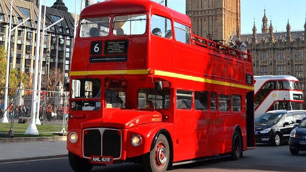 Vintage London Bus Tour And Thames Cruise For Two