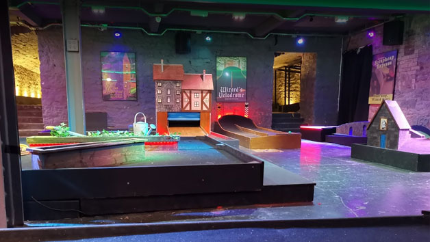 9 Hole Mini Golf At Scrapheap Golf For Two Adults And Two Children