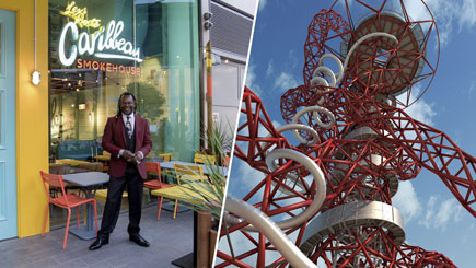 The Slide at the Arcelormittal Orbit and Taste of the Caribbean for Two