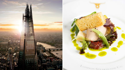 The View from the Shard and Meal at Marco Pierre White Chelsea for Two
