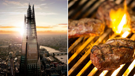 The View from the Shard and a Meal at Marco Pierre White's London Steakhouse Restaurant in the City of London