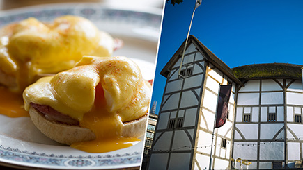 Tour of Shakespeare's Globe and Breakfast for Two