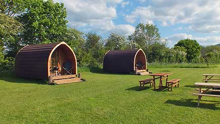One Night Camping Pod Break for Two in Worcestershire