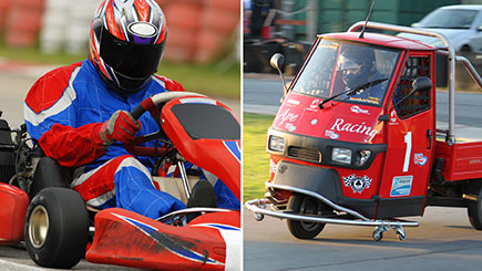 Piaggio Ape and Karting Racing