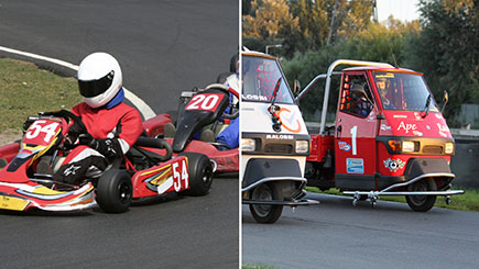 Piaggio Ape and Karting Racing for Two