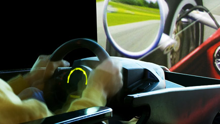 Kids Motorsport Simulator Party in Hampshire