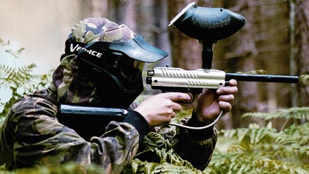 Paintballing for Four Tunbridge Wells