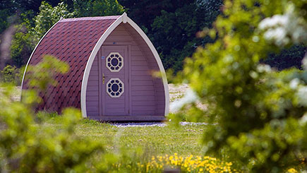 One Night Camping Pod Break for Two in Lancashire