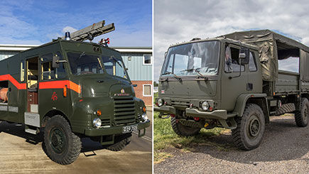 Military Truck Driving and Fire Engine Passenger Ride