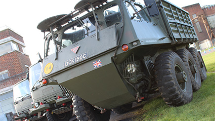 Military Truck Driving And Stalwart Passenger Ride