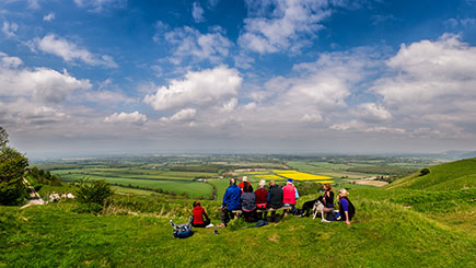 Full Day South Downs Walking Adventure with Pub Lunch for Two
