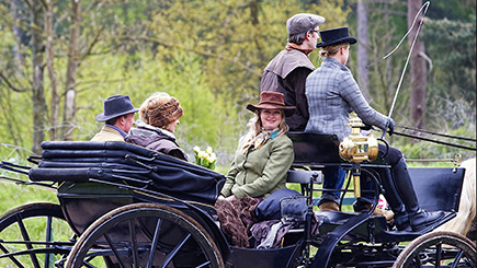 Family Horse Drawn Carriage Ride and Country Picnic