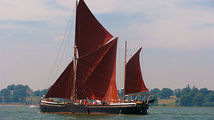 Cruise on River Orwell for Two on a Thames Sailing Barge in Suffolk