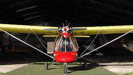 Fixed Wing Microlight Flying in Lancashire