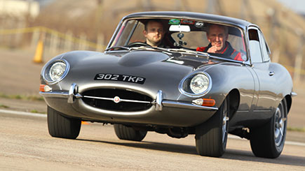 E-Type Jaguar Thrill with Hot Ride