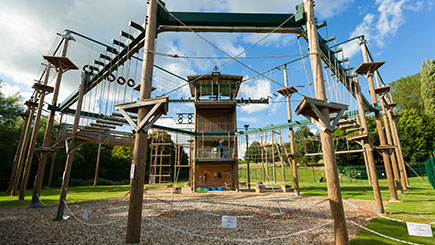 High Ropes Adventure in Hertfordshire For Two