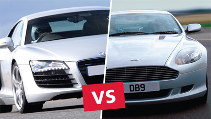 Aston Martin And Audi R8 Driving In Kent