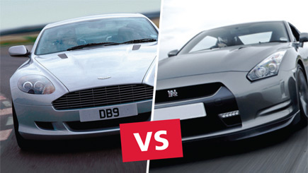 Aston Martin versus Nissan GT-R Driving Experience at Elvington