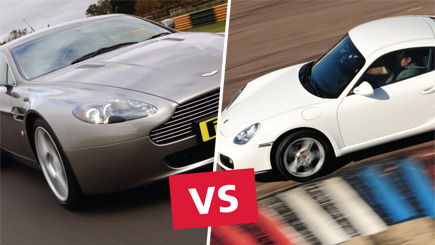 Aston Martin versus Porsche Driving at Thruxton