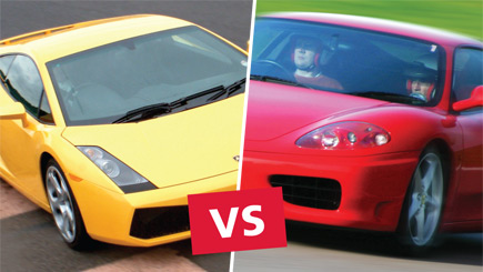 Lamborghini versus Ferrari Driving Thrill