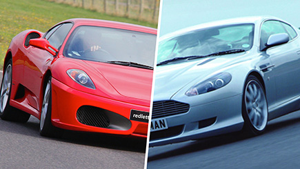 Ferrari and Aston Martin Driving at Elvington Race Track