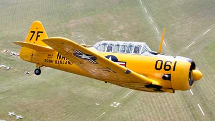 30 Minute Aerobatic Harvard Flight in Berkshire