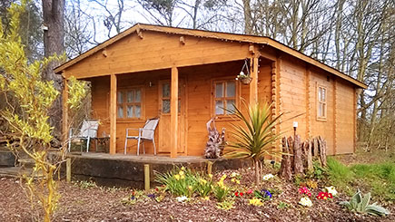 Two Night Woodland Lodge Break in Suffolk for Two