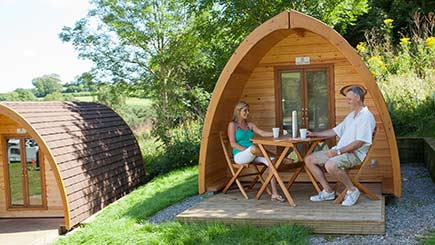 One Night Camping Pod Break for Two in South Devon