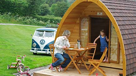 Two Night Camping Pod Break for Two in South Devon