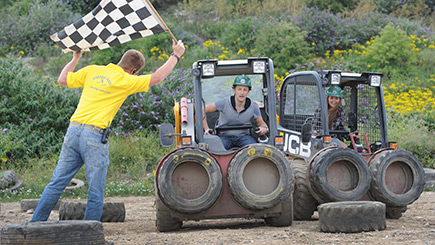 Dumper Truck Racing for Two at Diggerland West Yorkshire