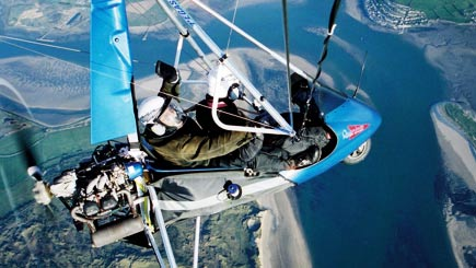 Extended Microlight Flying In Lancaster