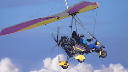 Microlight Flying In Bedfordshire