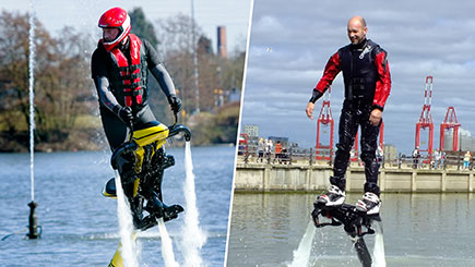Flyboarding or Water Jet Biking at Selected Locations