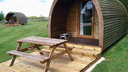 One Night Stay in a Camping Pod for Two in Yorkshire