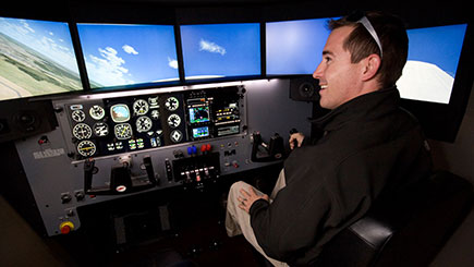 30 Minute Motion Cessna Simulator Flight in Bristol