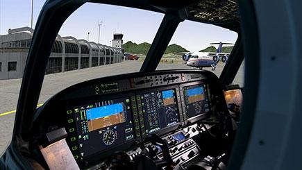 60 Minute Static Cessna Simulator Flight in Bristol