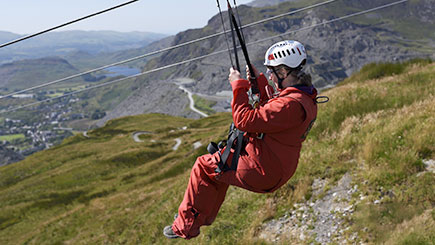 Titan Zip Wire Experience at Zip World, Wales