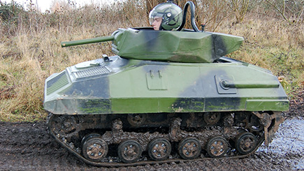 Mini Tank Driving Experience for up to Twelve