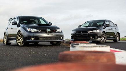 Subaru STI Vs Mitsubishi EVO Driving