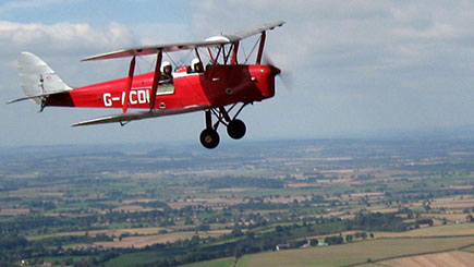 Tiger Moth Flight Over The Isle Of Wight