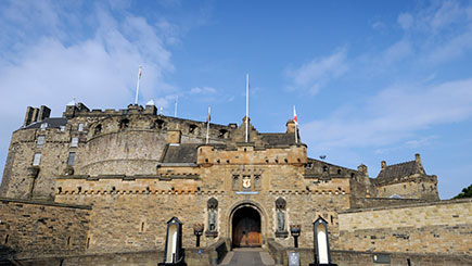Edinburgh Castle And Vintage Bus Afternoon Tea For Two