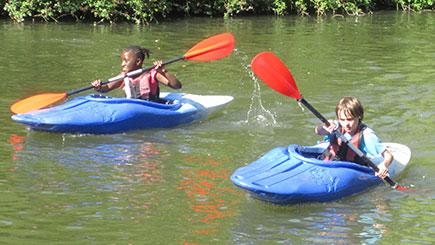 Kids Kayaking For Two