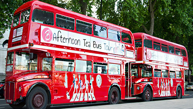B Bakery Afternoon Tea and London Bus Tour for Two