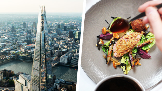 Buy The View from The Shard with Three Course Michelin Dining and Bubbles for Two