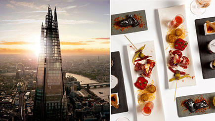 Afternoon Tea And The View From The Shard With Champagne For Two, London