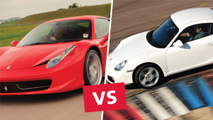 Ferrari 458 Versus Porsche Driving At Thruxton